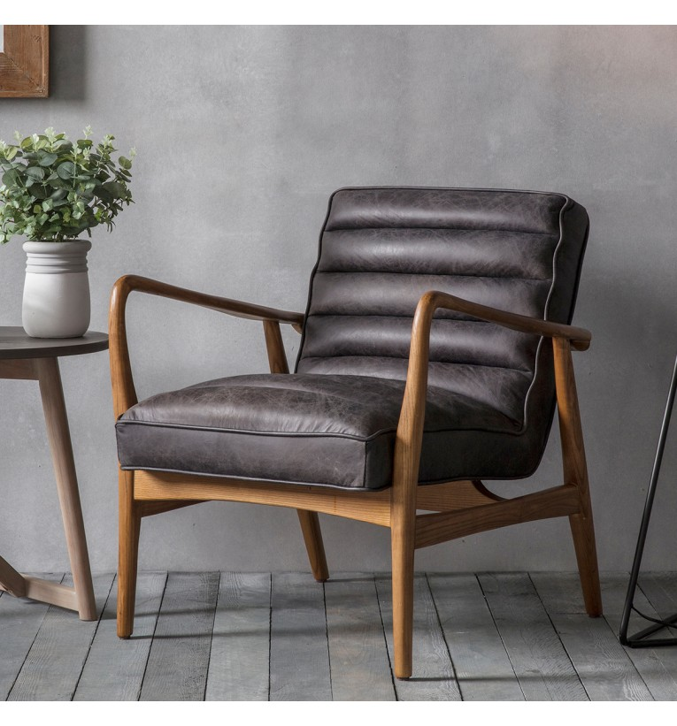 Datsun Leather Armchair In Antique Ebony My Vintage Home