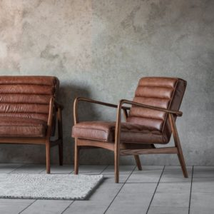 datsun armchair vintage brown leather