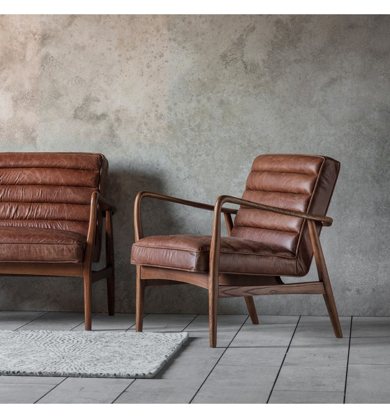 Datsun Leather Armchair In Vintage Brown My Vintage Home