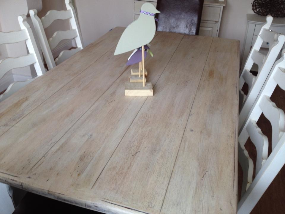 first project our dining table and chairs