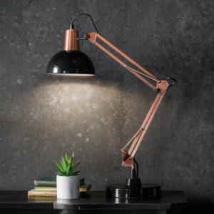 watspm table lamp bronze and black