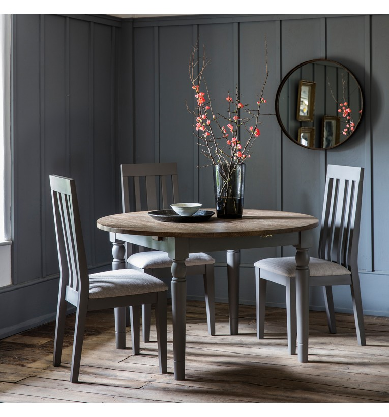 Cookham Round Extending Dining Table, Round Extendable Dining Table Set Grey