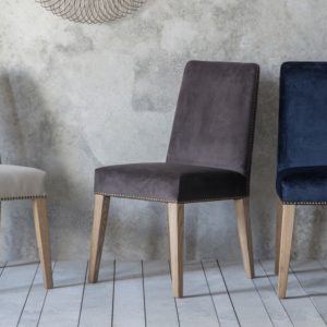 Rex Dining Chair Mouse Velvet
