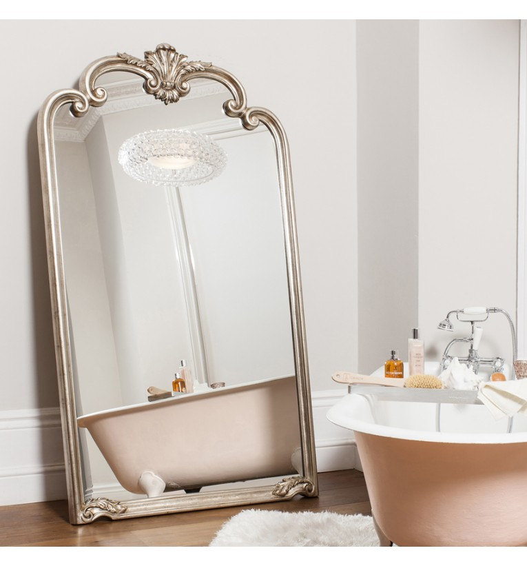 Palazzo Leaner Mirror Silver My Vintage Home