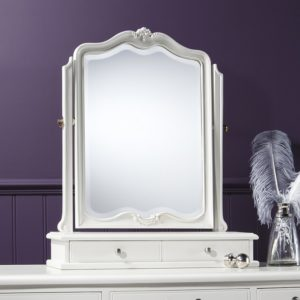 Chic Vanilla Table Mirror