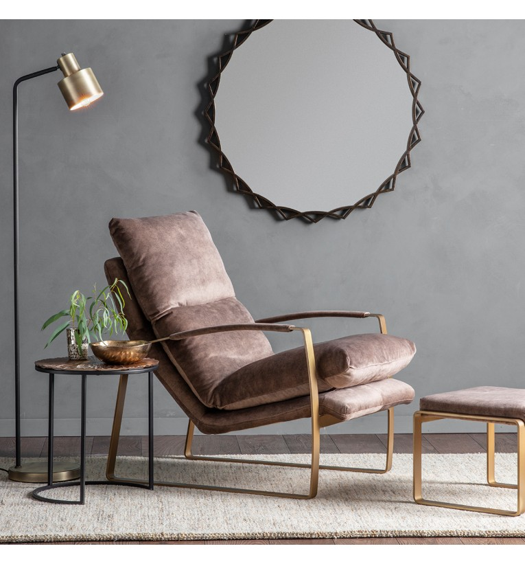 Fabien Lounger Chair Mineral My Vintage Home