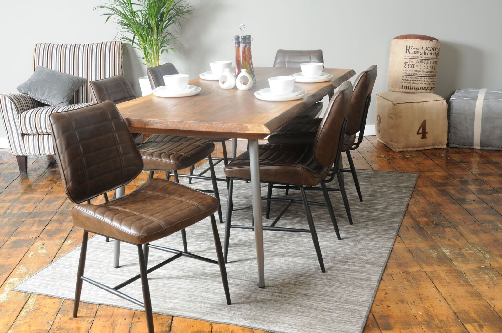Industrial Dining Table 6 8 Seater My Vintage Home