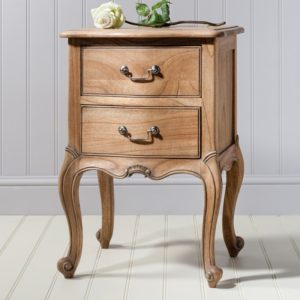 chic bedside table weathered