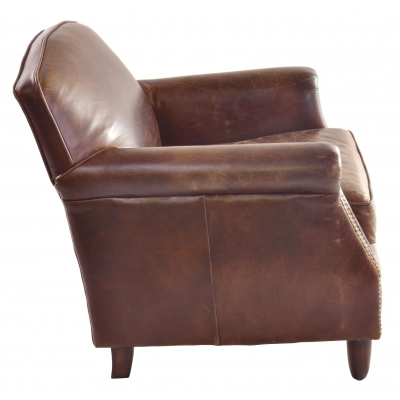 Marvelous Vintage Leather Studded Front Armchair Pdpeps Interior Chair Design Pdpepsorg
