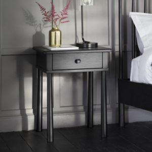 wycombe 1 drawer bedside black