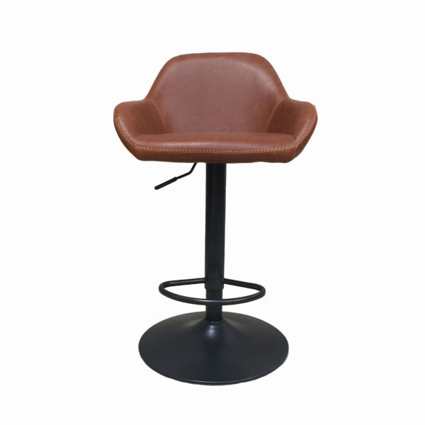 gas lift bar stool tan