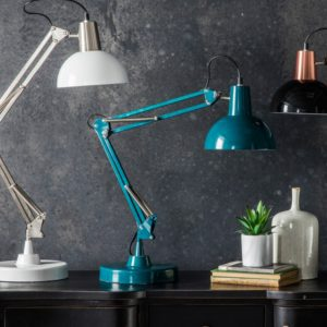 watson teal table lamp