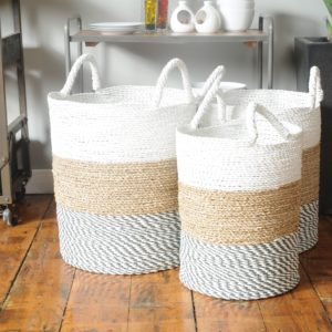 white top baskets