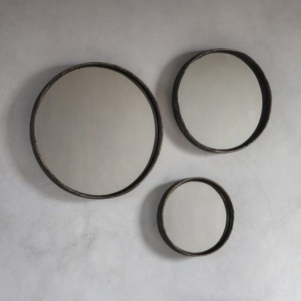 Rico set of 3 Mirrors in Charcoal