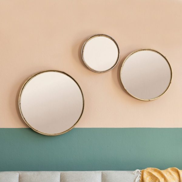 Rico set of 3 mirrors natural 1