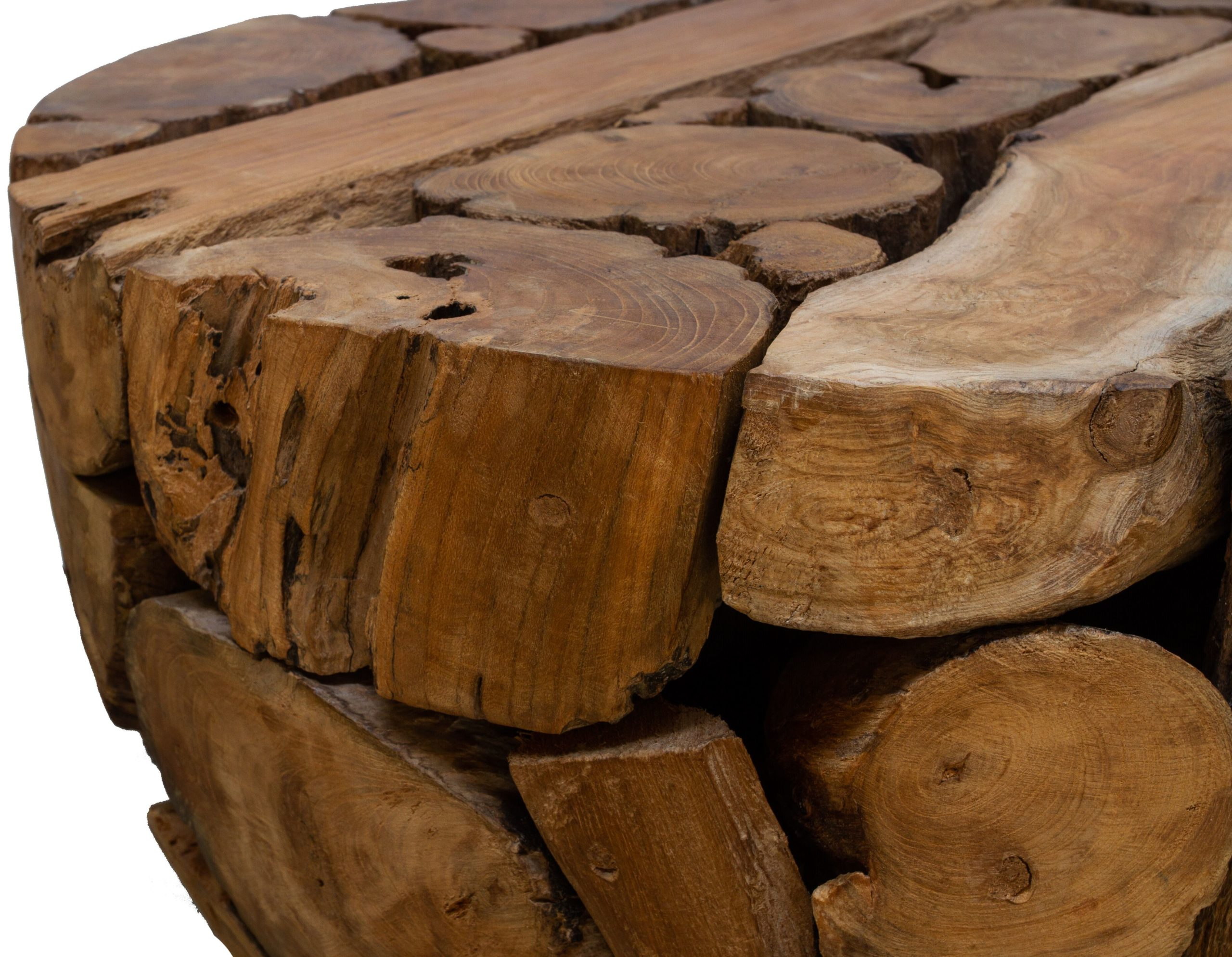 Teak Root Round Wooden Coffee Table | My Vintage Home