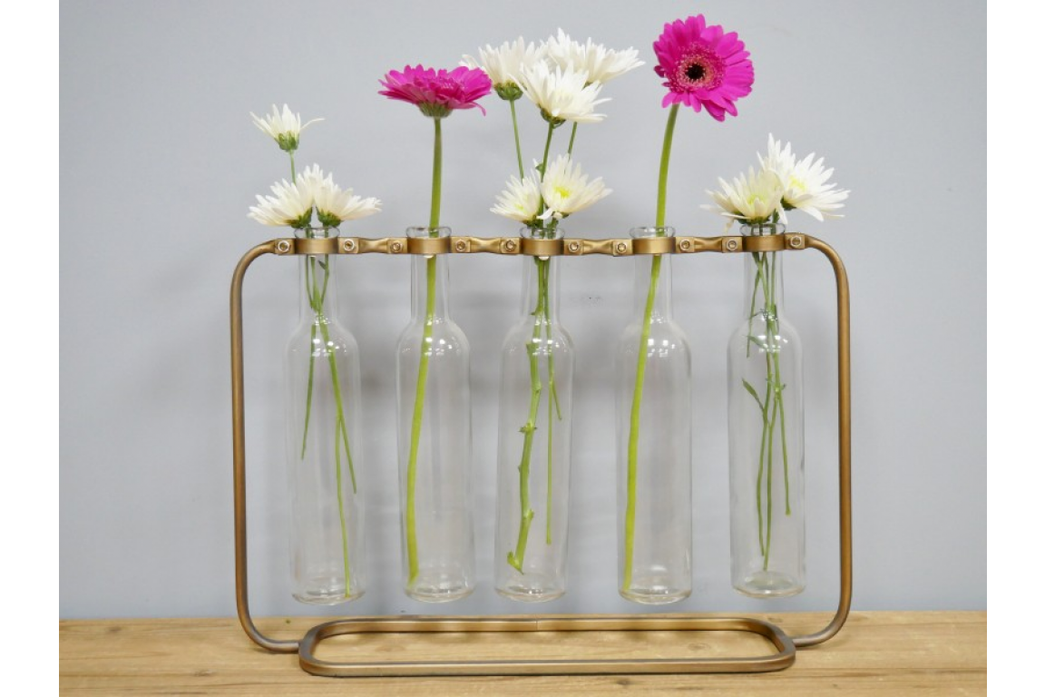 Metal And Glass Flower Holder My Vintage Home