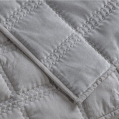 Quilted Cotton Bedspread Grey