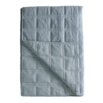 Quilted Cotton Bedspread Duck Egg