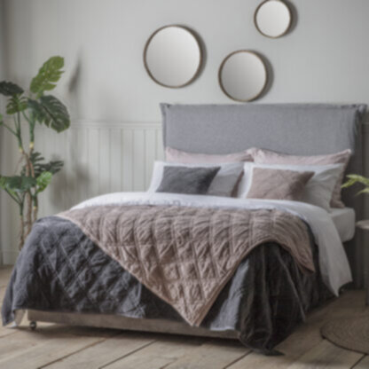 Quilted Diamond Bedspread Blush
