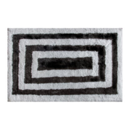 Hugger Rug Black White Medium