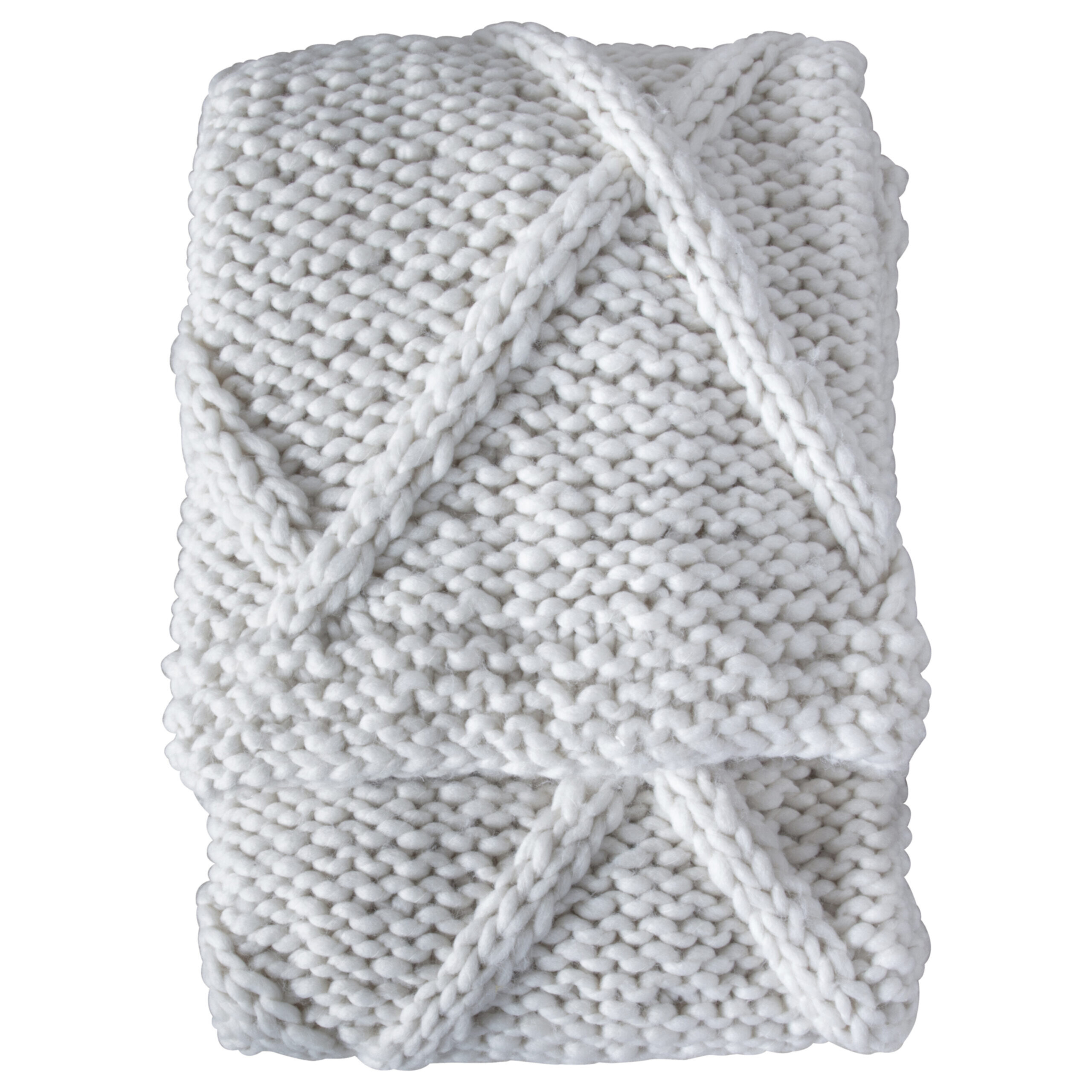 Cable Knit Diamond Throw Cream My Vintage Home