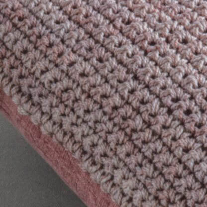 Knitted Space Dyed Cushion Blush