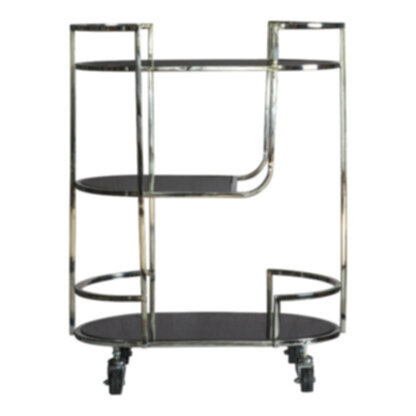 Beauchamp Drinks Trolley Silver