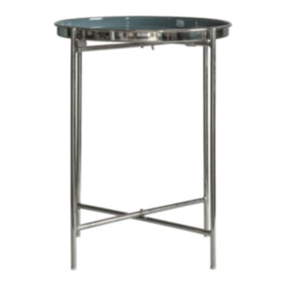 Valetta Side Table Silver Dark Grey