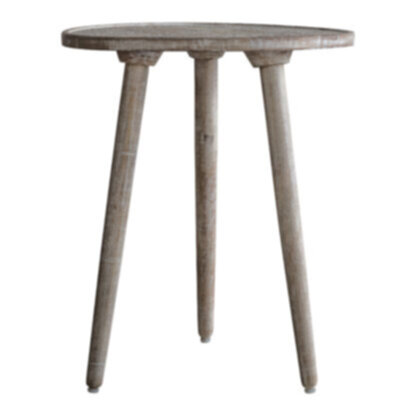 Agra Side Table Natural White