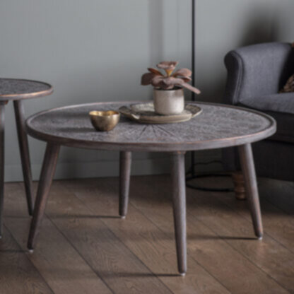 Agra Coffee Table Grey Copper