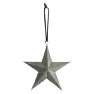 Turin Hanging Star Grey/Silver Small