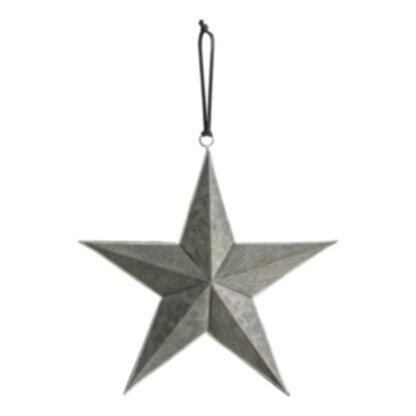 Turin Hanging Star Grey/Silver Medium