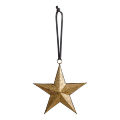 Turin Hanging Star Gold/Blk Small