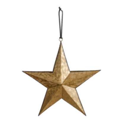 Turin Hanging Star Gold/Blk Large