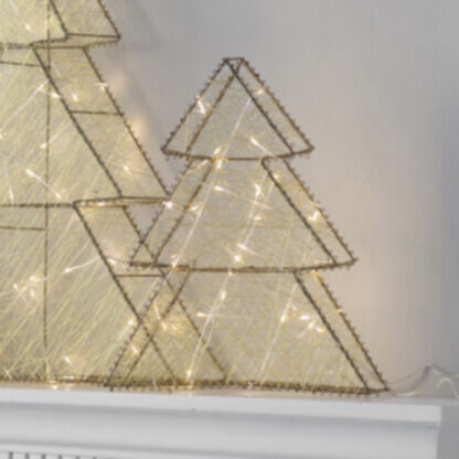 Sparkle 30 LED Tree Gold Small
