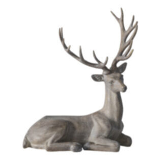 Osteroy Sitting Stag Grey Wash