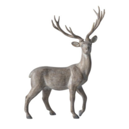 Osteroy Standing Stag Grey Wash