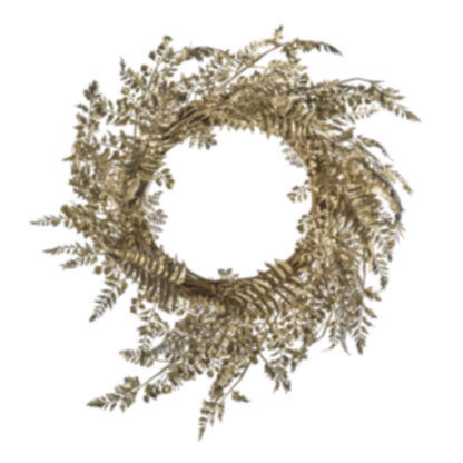 Morgan Delux Leaf Wreath Champagne Gold