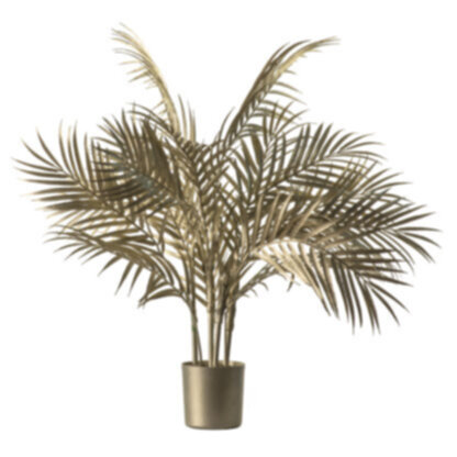 Boulevard Potted Palm Tree Champagne Gold Small