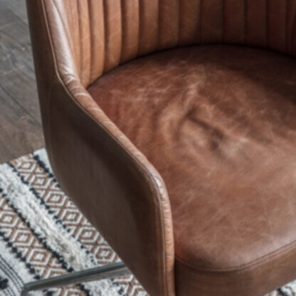 Curie Swivel Chair Vintage Brown Leather