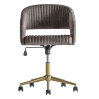 Murray Swivel Chair Grey Velvet