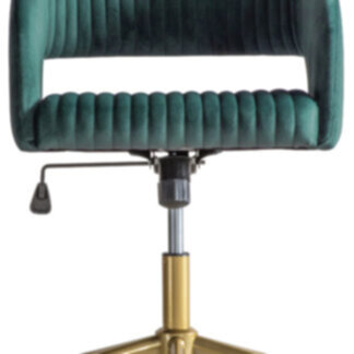 Murray Swivel Chair Green Velvet