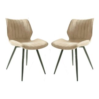Alfa Dining Chair Moleskin Oyster SET OF 2