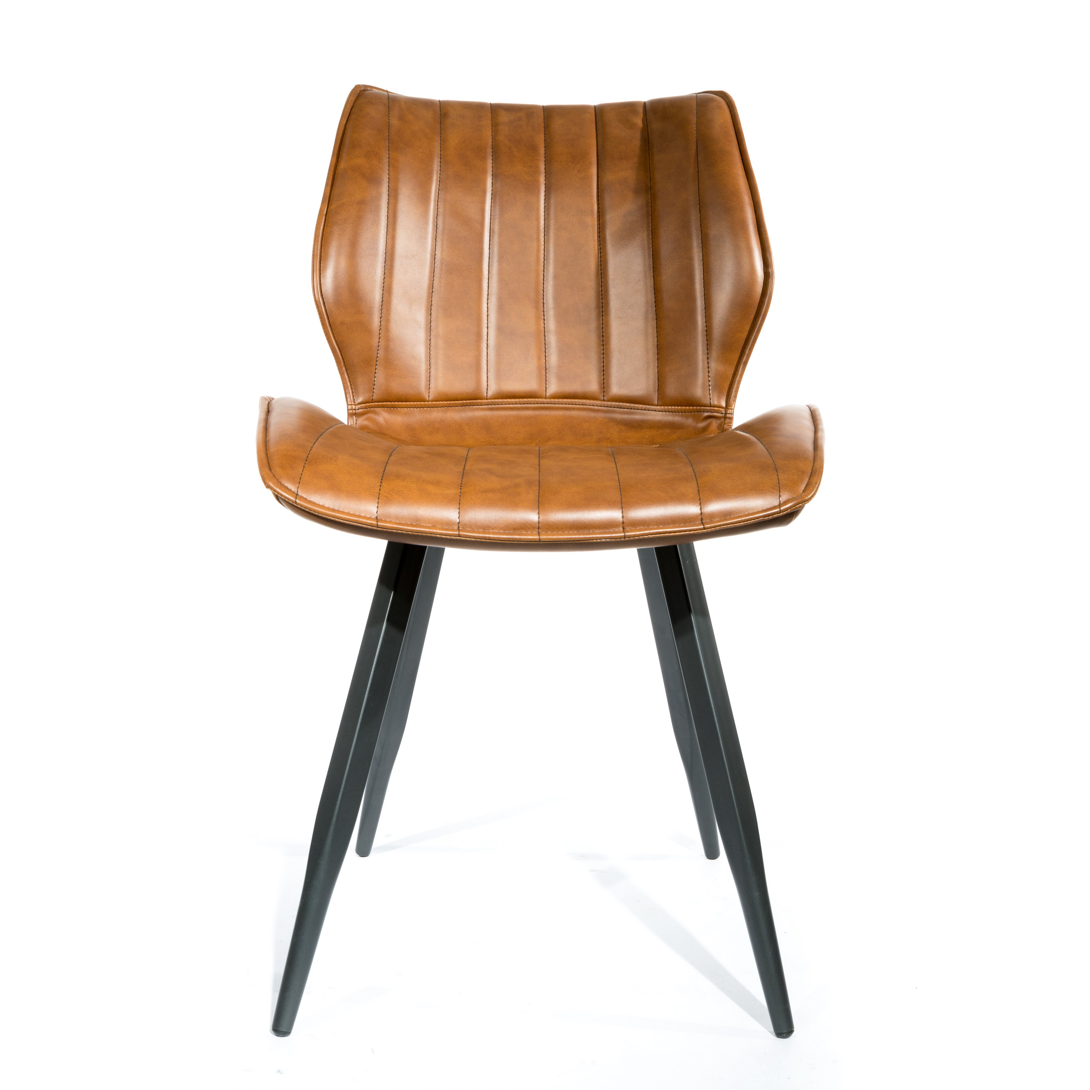 Alfa Dining Chair Vegan Leather Tan SET OF 2