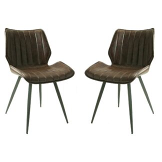 Alfa Dining Chair Vegan Leather Chestnut SET OF 2