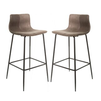 Barracuda Barstool Moleskin Mussel SET OF 2