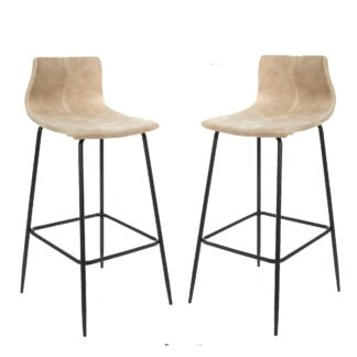 Barracuda Barstool Moleskin Oyster SET OF 2