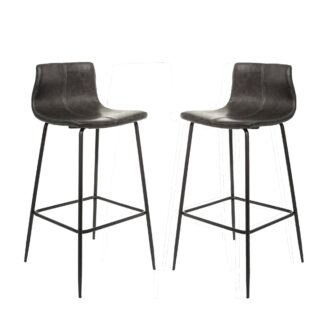 Barracuda Barstool Vegan Leather Grey SET OF 2