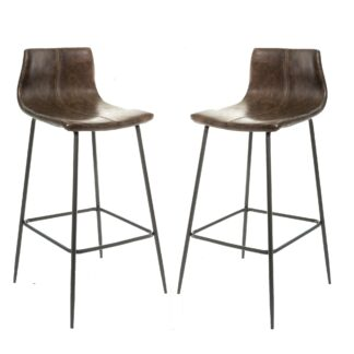 Barracuda Barstool Vegan Leather Chestnut SET OF 2